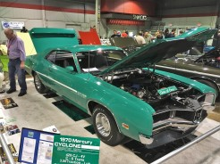 Rare 1970 Mercury Cyclone won Best Ford/Mercury award, Carlisle Events Ford Pick of the Show award, and Hagerty Youth Judging 1st Place award.