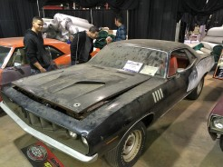 Please don't touch the dirt: 1971 Plymouth Cuda was a hit in the Barn Finds and Hidden Gems section.
